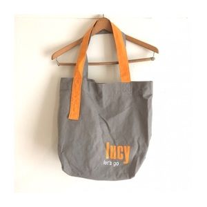 Lucy Athletic Wear Grey and Orange Canvas Tote Bag 62691604c6ee9